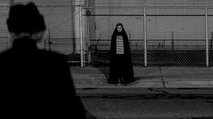 girl walks home alone